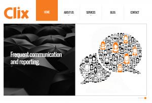 Clix Marketing (clixmarketing.com) home page full size image