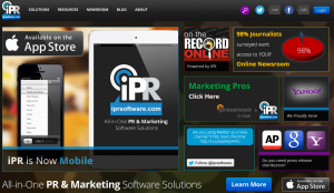 iPR Software (iprsoftware.com) home page full size image