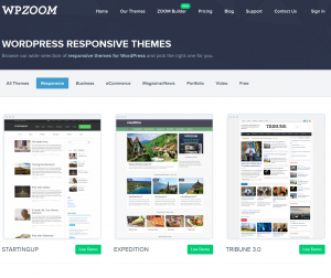 WPZOOM Responsive Wordpress Themes (wpzoom.com/wordpress-responsive-themes) page full size image