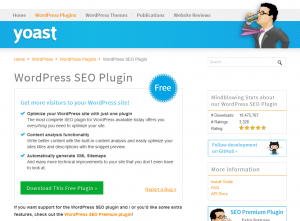 Yoast Wordpress SEO Plugin (yoast.com/wordpress/plugins/seo) overview page full size image