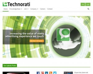 Technoriat (technorati.com) home page full size image