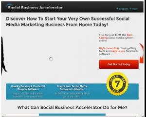 SocialBusinessAccelerator.com home page full size image
