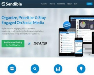 Sendible home page full size image