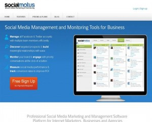 Social Motus (socialmotus.com) home page full size image